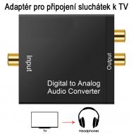 Adaptér dig. audio na analog. sluchátka